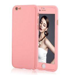 2019 ganzkörper-handy Luxus 360 Grad Full Body Protection Fällen für iPhone 6 für iPhone 6 s plus Abdeckung + gehärtetes Glas Mode Handy-Zubehör rabatt ganzkörper-handy