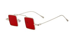 Wholesale Gothic For Men - New man Fashion Gothic Steampunk Sunglasses Brand Designer Square woman Sunglasses For Men Women Sun Glasses VE0114