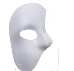 Wholesale Wholesale Dress Clothing Men - Phantom Of The Opera Face Mask Halloween Christmas New Year Party Costume Clothing Make Up Fancy Dress Up - Most Adults White Phantom Mask