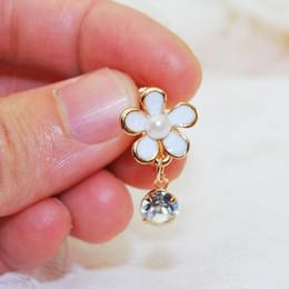 Wholesale Cubic Zirconia Clip Earrings - Xs Floret Multicolor Imitation Pearl AAA Zircon Drip Earrings No Ear Pierced Ear Clip Earring B1439