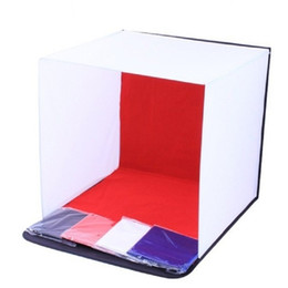 Wholesale Backdrop Camera - photography studio shooting tent light softbox and 4 backdrops for photography box 40 50 60cm perfect for digital and film camera shoot