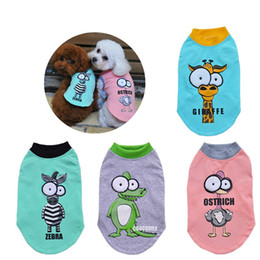 Wholesale Female Cartoon Costumes - New Fashion Cotton Cartoon Big Eyes Dog Pet Vest Clothes Spring Summer Clothes T-shirt Costume for Small Dogs