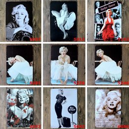 Wholesale Marilyn Tins - Metal Paintings Wall Sexy Lady of Marilyn Monroe Vintage Metal Tin Signs Painting Home Decor Wall Art Craft Sticker Bar 20x30cm Pub