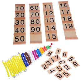 Wholesale Educational Train Toys - Wholesale- Wooden Math Intelligence Sticks Figures Kids Preschool Educational Early Childhood Education Preschool Training Toys Gift