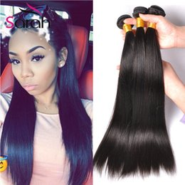 Wholesale Indian Hair Smooth - 2017 7A Remy Human Hair Qualified Softest And Smoothest Peruvian Virgin Straight Human Hair Weaves Extensions,3pcs lot Hot Beauty Hair