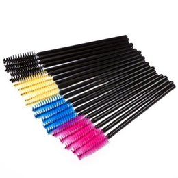 Wholesale Hot Pink Mascara - 400 pieces Eyelash Eye Lash Makeup Brush Mini Mascara Wands Applicator Disposable Extension Tool Hot Sale Free Shipping