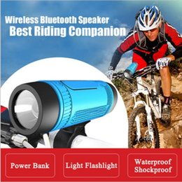 Wholesale Computer Power Bank - Zealot S1 Bluetooth Outdoor Bicycle Speaker Portable Subwoofer Bass Speakers 4000mAh Power Bank+LED light +Bike Mount+Carabiner