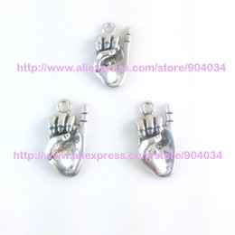 Wholesale Greek Rings - Wholesale-Greek Sorority AKA hand signals Charm With ring fit bracelet 20pcs 1 lot
