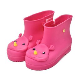 Wholesale Raining Boots For Kids - Baby Kids Rain Boots Rhinoceros Girls Children Rain Shoes Bow Waterproof Child Rubber Boots For Girl Jelly Soft BO04