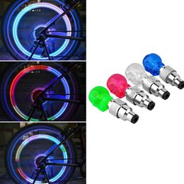 Wholesale Led Lights For Bicycles Wheels - Wholesale- New Led Bike Light 1 pcs Skull Shape Valve Cap LED Light Wheel Tyre Lamp for Car Motorbike Bike Colorful Bicycle Accessories