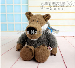 Wholesale Nici Plush Toys - Wholesale- Free Shipping 25cm NICI wolf plush toy stuffed animal soft pet doll 3 colors for choose best birthday gift for children