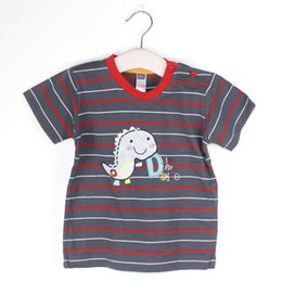 Wholesale Baby Boy Holiday Clothes - Baby clothes kids boys summer holiday cotton outfits T shirt