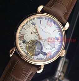 Часы наручные онлайн-2019 Коричневая Кожа VC Top Designer Мода Механические Мужские Из Нержавеющей Стали Золото Автоматическое движение Часы мужские наручные часы Часы