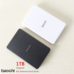 Wholesale 1tb Portable Hard Drive - Wholesale- Free shipping New Styles TWOCHI A1 Original 2.5'' External Hard Drive 1TB Portable HDD 1000G Storage Disk Plug and Play On Sale
