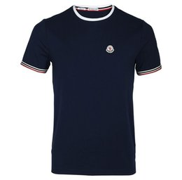 Wholesale T Shorts Logo - Hot Summer Fashion Brand LOGO Embroidery T Shirt Men's High Quality Tops Tees Custom male t-shirt Casual Cotton Breathable clothing Hot sell