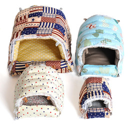 Wholesale Free Style Nest - 2017 New Style Best Sell Lovely Warm Colorful Pet House Can Washable Small Pets Zipper Cotton Nest Free Shipping