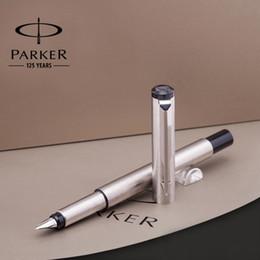 паркерная ручка Скидка Полный металл Паркер вектор авторучка 0.5 мм перо из нержавеющей стали Паркер ручка бизнес канцелярские товары для офиса