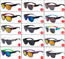 Wholesale Cycling Promotion - MOQ=10pcs summer Promotion Acetate rivet borough sunglasses beach Sports cycling glasses fashion 15 colors classic sun glasses