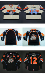 Wholesale Ludwig Blue - custom 2017 Mens Womens Kids ECHL Missouri Mavericks 14 Trevor Ludwig 12 Rocco Carzo Stitched Cheap High quality Hockey Jerseys Goalit Cut