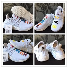 Wholesale Real Families - Pharrell's NMD Human Race Runner Shoes for Sale,NMDs Real Boost Hu PW Birthday,Fear of God,Shock Pink,Burgundy Friends and Family Eur 41-45