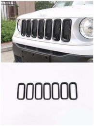 Wholesale Mesh Grills For Cars - Car Front Grille Inserts Mesh Grill Accessories for Jeep Renegade 2015-2016