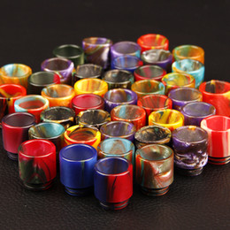 Wholesale Drip Heads - resin drip tip for Smok TFV8 Atomizer Smoktech 6.0ml TFV8 Cloud Beast Tank With V8-T8 V8-Q4 Coil Head Best Updated TFV4 Tank DHL