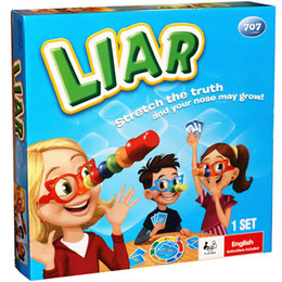 Wholesale Puzzle Card Games - Liar Board Game ,Stretch The Truth And Your Nuse May Grow ,Party  Family Puzzle Game For Children ,Send English Instructions