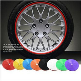 Wholesale Red Line Tires - 8 M Car Motorcycle Wheel Hub Tire Sticker Car Decorative Strip Wheel Rim Protection Care Covers Car Accessories Car-Styling