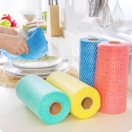 Wholesale Oil Environmental - High Efficient Environmental Colorful Washing Dish Towel Magic Kitchen Cleaning Cloth Non-stick Oil Wiping Rags Towel Bag