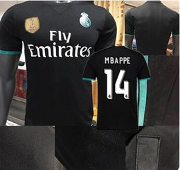 Wholesale Madrid 14 - 2018 player version Away black Real Madrid Soccer Jersey 17 18 CR7 soccer shirt MBAPPE #14 Ronaldo Bale Football Asensio SERGIO RAMOS sales