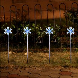 Wholesale wholesale christmas lawn decorations - Christmas Lights Outdoor LED Snowflake lights Navidad Outdoor decoration light home & outdoor light LED lawn lighting