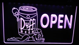 Wholesale Duff Beer Neon - LS449-p Duff Beer OPEN Bar Girl Neon Light Sign.jpg