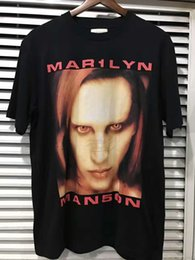 Wholesale Marilyn Print - 2017SS summer Justin Bieber FOG FEAR OF GOD Oversize bigger than satan BIEBER T shirt HIPHOP METALLICA Marilyn Manson Cotton Tee