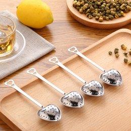 "Wholesale Wholesale Stainless Steel Spoon - ""Tea Time"" Heart Tea Infuser Heart-Shaped Stainless Herbal Tea Infuser Spoon Filter"