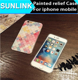Wholesale Iphone Jacket Case - clorful scale Painted relief phone case 360 omnibearing protecting jacket soft TPU for iphone 6,6plus,7,plus
