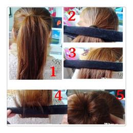 Wholesale Updo Hair Accessories - Women Fashion Hair Bun Maker Styling Tools DIY Hair Wig Accessories Hair Bun Updo Fold Wrap Snap Styling Tool Bun Maker Free Shipping