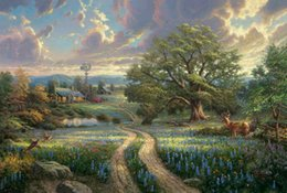 Wholesale Country Canvas Framed - Country Living Thomas Kinkade Oil Paintings Art Wall Modern HD Print On Canvas Decoration No Frame