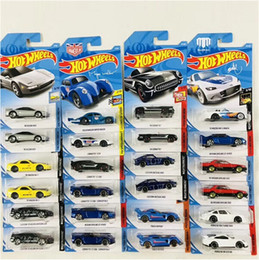 Wholesale 72 Models - Wholesale Hotwheels Cars Model Baby Toys Collectible Cars One Carton Contain 72 Piece Cars DHL Free