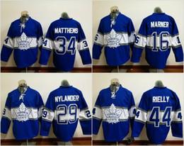 Wholesale Maple Leaf Silk - Toronto Maple Leafs Jersey Men's #16 Mitchell Marner #34 Auston Matthews #29 William Nylander 100% Stitched Embroidery Logos Hockey Jer