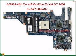 Wholesale Motherboard For Hp G6 - MB 649950-001 For HP Pavilion G4 G6 G7-1000 Laptop Motherboard DA0R23MB6D1 AMD 2010 CPU HD6470 1GB Socket FS1 DDR3 100% Tested
