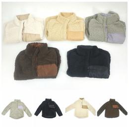 Wholesale Oversized Winter Sweater - Kids Sherpa Pullover Chrildren Winter Fall Fleece Soft Hoodie Sweatshirt Oversized 1 4 Button Sweaters OOA3494