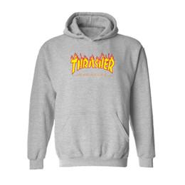 Wholesale Sports Sleeves - 2017 New Hip Hop Men Sportswear Hooded Sweatshirts Mens Pullover Hoodies Male Hoodie Sport Suit