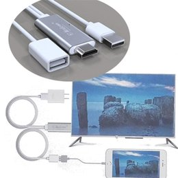 Wholesale Cellphone Hdmi - Universal HDMI Cable HDTV Adapter AV Cable Micro USB type-c cable to HDMI 1080P For Ipx ip 8 Android Samsung Xiaomi LG cellphone