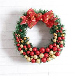 Wholesale Christmas Wreath Supplies - 1pc Artificial Flower Xmas Wreath Door Decorative Wedding Hanging Christmas Wreaths Garland For Home Decoration Supplies