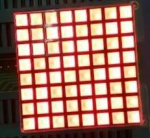 Wholesale 8x8 Led Dot Matrix Display - Wholesale- FREE SHIPPING 10PCS x 3MM 8X8 RED 32*32mm Square LED Dot Matrix Digital Tube Module 1288BS Common Anode LED Display Module