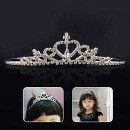 Wholesale Hair Band Crown Kids - Girl Child Kids Christmas Gift Rhinestone Crystal Tiara Hair Band Kid Girl Bridal Princess Prom Crown Headband 24pcs sale