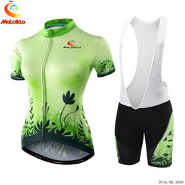 Wholesale Grey Lycra Suit - MALCIKLO Cycling Jersey Maillot Cycling Clothing Rock Racing Bike Wear Ropa Ciclismo MTB Bike Clothing Pro Women Cycling Suit