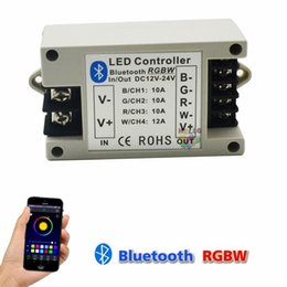 Wholesale Wireless Controller Support - Bluetooth RGBW RGB led Controller BT Wireless Led Strip Bluetooth 4.0 Control DC 12V 24V 42A Support IOS Android