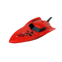 Wholesale Electric Rc Boats Racing - Wholesale- 2017 New High Speed RC Remote Control Boat 3312 2.4G 4CH Radio Controlled Mini RC Racing BoatFor Children Kid