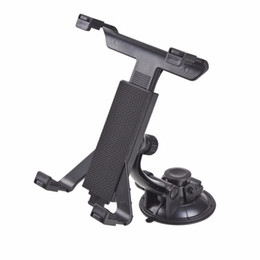 Держатель для крепления подголовника онлайн-Wholesale- New Universal PC GPS Car Windshield Back Seat Headrest Table Mount Tablet Holder For iPad 2/3/4/5 Tablet Stand Black Wholesale